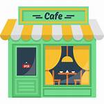 Cafe Coffee Icon Clipart Building Buildings Svg