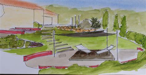bureau à la maison aménagement création d un jardin paysager gard d 39 une villa sur un