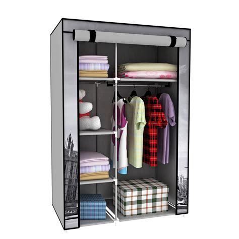 Cloth Closet Organizers by Portable Closet Storage Organizer Clothes Wardrobe With