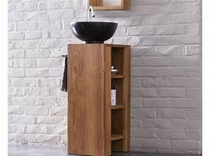 Petit Meuble Vasque : 40 meubles pour une petite salle de bains elle d coration ~ Edinachiropracticcenter.com Idées de Décoration