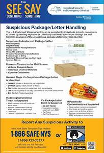 Suspicious Package/ Letter Handling | Cattaraugus County