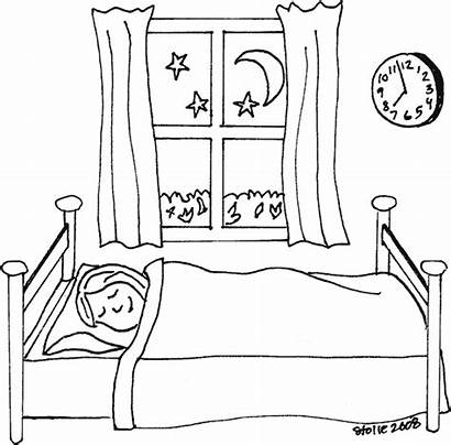 Sleeping Colouring Bed Clipart Coloring Pages Ss