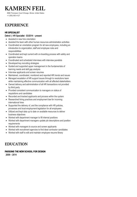 labor relations specialist sle resume bank trainer