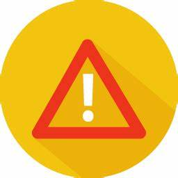 Problem warning Icon | Colorful Long Shadow Iconset ...
