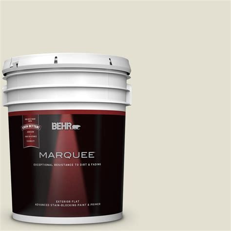 behr marquee 5 gal 400e 2 turtle dove flat exterior paint 445005 the home depot