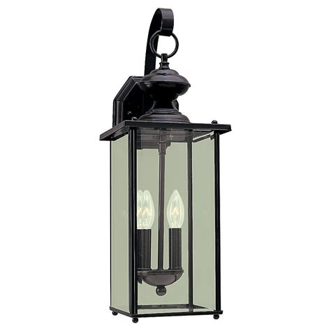 2 light outdoor wall sconce in black