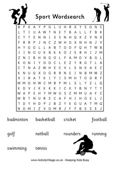 uk sports word search