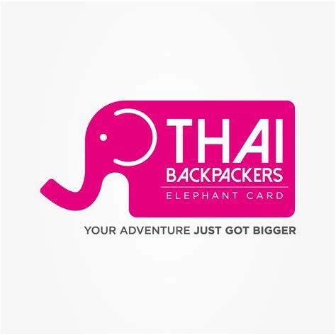 thai backpackers elephant card designed  outspoken