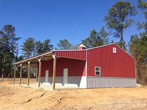 30x40x12 enclosed steel truss pole barn with lean to With 30x40x12 pole barn
