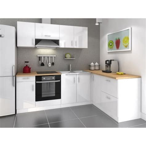 cuisine complete discount cosy cuisine complète 280cm laqué blanc achat vente