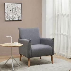 Fauteuil Bois Et Tissu : fauteuil r tro tissu et pieds bois julius drawer ~ Melissatoandfro.com Idées de Décoration