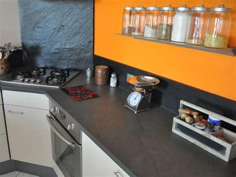 planche ardoise cuisine minardoises crédence en ardoise
