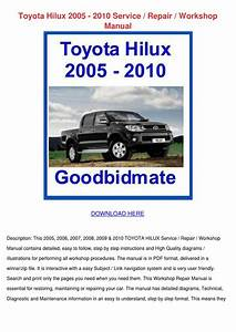 Toyota Hilux 2005 2010 Service Repair Worksho By