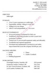 resume sle millwright damn resume guide