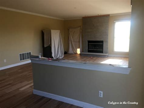 half wall ideas renovation progress the half wall calypso in the country
