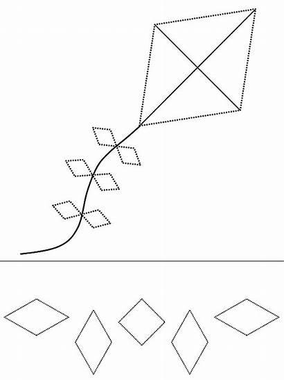 Diamond Coloring Shape Kite Pages Drawing Printable