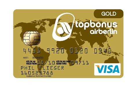 status und praemien schneller mit der air berlin kreditkarte