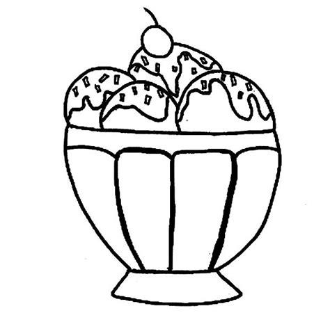Ice Cream Soda Coloring Page