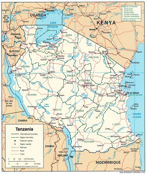 tanzania maps perry castaneda map collection ut