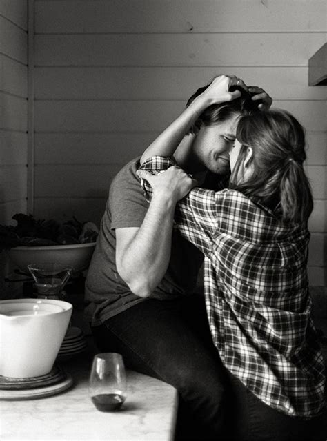 intimate kitchen engagement session wedding ideas