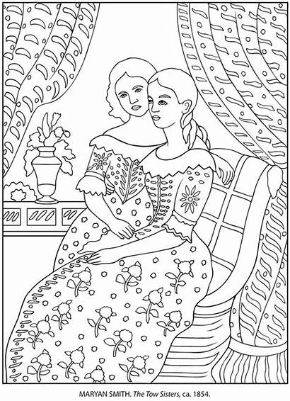 Coloring Pages Famous Dover Adult Paintings American