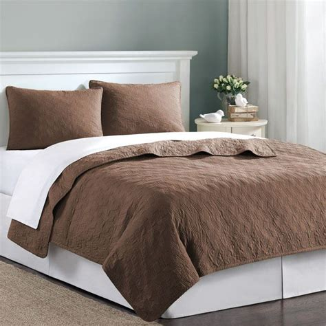 Brown Quilted Coverlet by Chocolate Brown Velvet Touch Xl Coverlet Quilt