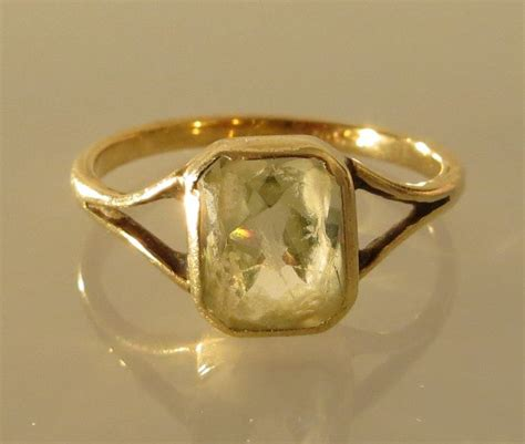 Gold Ring With Light Green Stone Catawiki