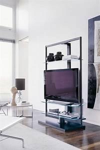 Meuble Tv Original : meubles tv design pour un salon contemporain ~ Teatrodelosmanantiales.com Idées de Décoration