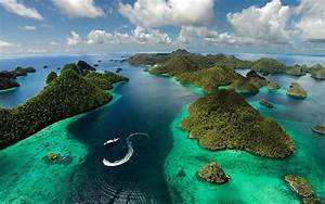 Nature, Landscape, Ocean, Island, Clouds, Indonezija, Raja, Ampat