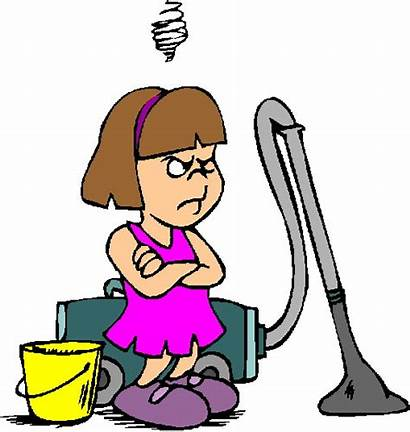 Cleaning Clip Clipart Chores Household Kid Children