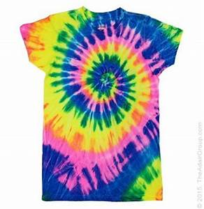 Neon Rainbow Womens Tie Dye T Shirt