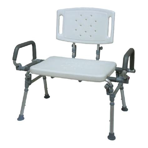 Flip Shower Bench by Hs9e123l Foldable Shower Bench With Backrest Flip Up Arms