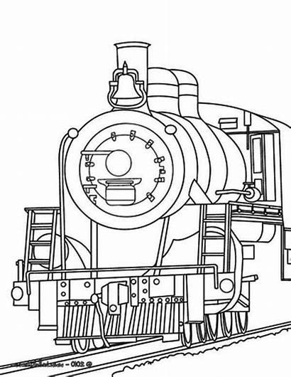 Train Coloring Pages Steam Engine Drawing Printable