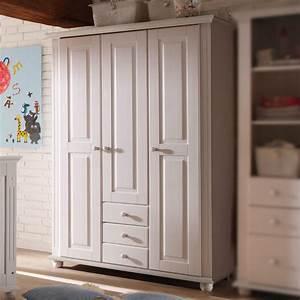 Kinderzimmer Schrank Weiß : kleiderschrank laura kinderzimmer schrank kiefer massiv in wei 130 cm ebay ~ Frokenaadalensverden.com Haus und Dekorationen