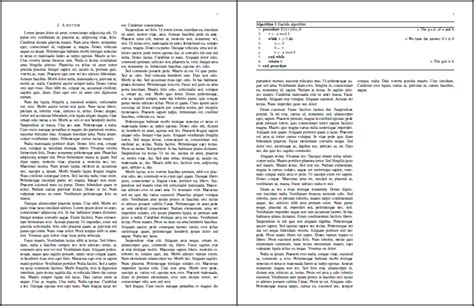 two column latex template floats ieee template algorithm over both columns tex