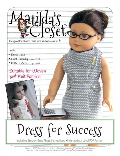matildas closet dress  success doll clothes pattern