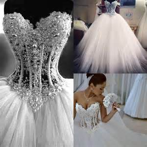 wedding dress corset top real picture 2016 white gown wedding dresses sweetheart see through top tulle corset pearls