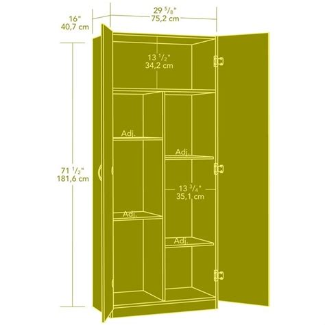 sauder beginnings storage cabinet in highland oak 413326