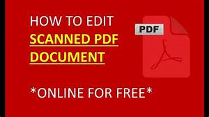 how to edit scanned pdf document easy and fastest way to With edit scanned pdf documents free