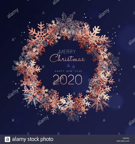 merry christmas happy year greeting card