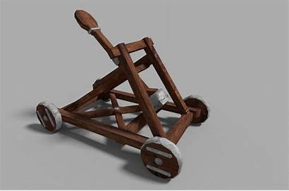 Catapult Medieval Poly Low Historic Vr Exterior