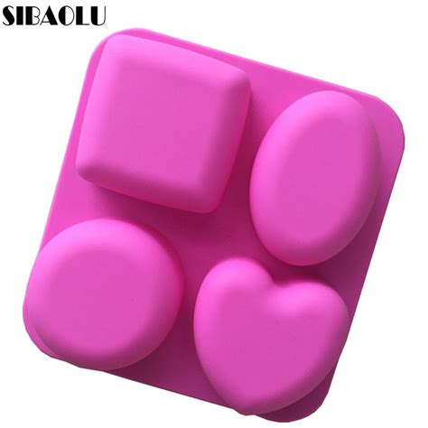 basic square heart oval  soap silicone mold candle