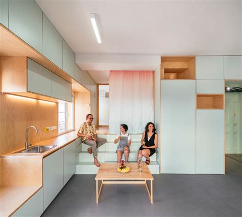 5 Contrasting Small Apartment Designs by Small Apartment Renovation In Madrid Spain By Elii