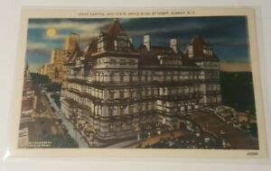 1930s linen postcard STATE CAPITOL BUILDING Albany New