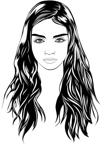 dibujo de retrato de mujer  colorear dibujos