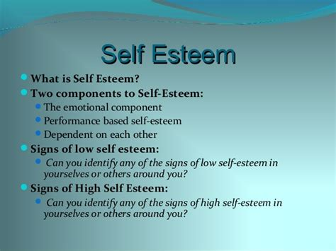 effects of low self esteem on At this same time we might also start to feel the physical effects of aging, and so we lose esteem for much of the self-esteem we had self-esteem and self.