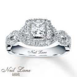 engagement rings neil neil engagement ring 1 ct tw diamonds 14k white gold