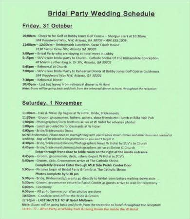 party schedule template   word  documents
