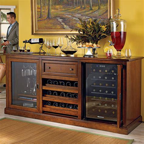 Trilogy Wine Credenza - refrigerated wine cabinet credenza cabinets matttroy