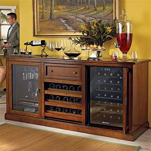 Sterling bar cabinet with wine fridge ideas interior for Tropical home bar furniture
